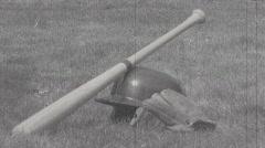 Baseball Gear Damaged Film 1a Stock Footage