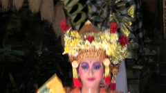 BALANISE GIRLS DANCING Dancers Costume Art perform Ubud Bali Indonesia Stock Footage