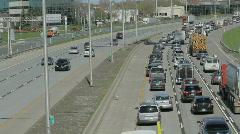 Traffic on highway 5 Stock Footage