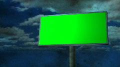 Billboard Dark Clouds Stock Footage