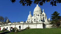 Sacré Coeur, Paris, France Stock Footage