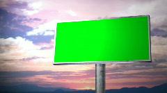 Billboard Green screen Stock Footage