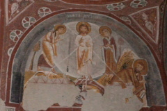 Rock Chapel frescoes Stock Footage