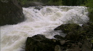 Stock Video Footage of Raging River in Spring