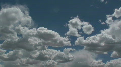 Fleecy Clouds Time Lapse Stock Footage