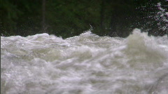 Stock Video Footage of Raging River in Spring 2
