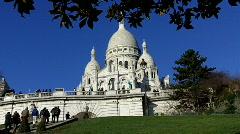 Sacré Coeur, Paris, France Stock Footage