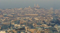 City of Paris with Sacré Coeur in deep background Stock Footage