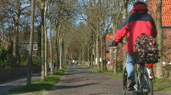 Bicycle ride through town (Borkum, Germany) Stock Footage