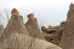 Tuff stone formations - stock footage