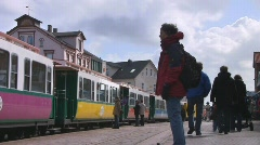 Narrow gauge train departing Stock Footage