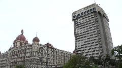 Taj hotel in mumbai Stock Footage