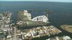 Aerial Coastal Condominiums Zoom In Stock Footage