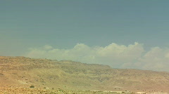 Masada wide pan Stock Footage