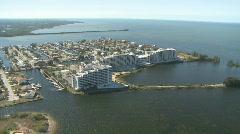 Aerial Coastal Condominiums Stock Footage
