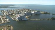 Stock Video Footage of Aerial Coastal Condominiums