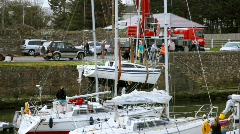 Courtown Marina 1 Stock Footage