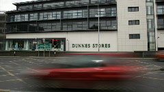 Drogheda Timelapse of an Irish Town 18 Dunnes Stores Stock Footage