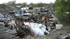 Traditional laundry (Dhobi Ghat) - stock footage