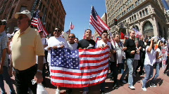 Stock Video Footage of May Day Immigration Protest Rally Los Angeles 1