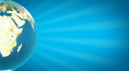 Half Earth with Blue Rays HD1080 Loopable Stock Footage