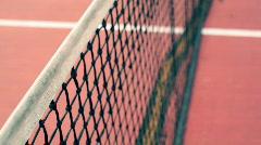 T181 tennis court net sport Stock Footage
