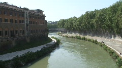 The Tiber River Stock Footage