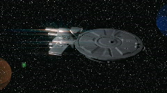T181 starship markaprise scifi space trek treking Stock Footage