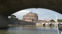 Castel d'Angelo from the Tiber - stock footage