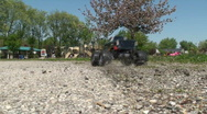 RC truck in gravel Stock Footage