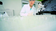Medical Research Laboratory Stock Footage
