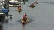 Stock Video Footage of Parade Of Dragon Boats