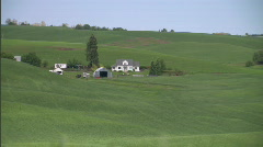Palouse Wheat Field Lush Green 5 Stock Footage