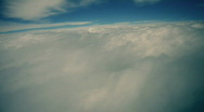 Stock Video Footage of t182 clouds air space artistic