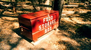 Stock Video Footage of t182 food storage box bear safe