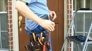 Electrican at work Stock Footage