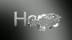 Hope is lost. Chromed Word destruction Stock Footage