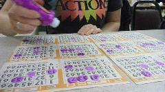Bingo Time Lapse - stock footage