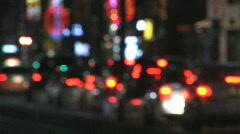 Defocused night traffic. Stock Footage