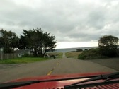 Driving Empty Road to Sea Shore Stock Footage
