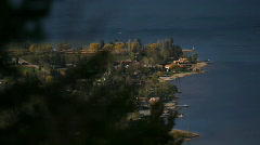 Lakeside resort town Stock Footage