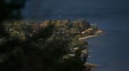 Lakeside resort town Stock Footage