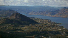 Okanagan Lake and Valley Stock Footage