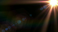 Colorful lens flare Stock Footage
