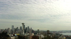 SEATTLE'S SPACE NEEDLE Tourist Destination Iconic Symbol Skyline Landmark Stock Footage