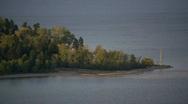 Beach Point on Okanagan Lake Stock Footage