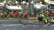 Stock Video Footage of Dragon Boat Race