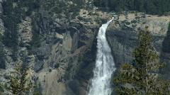 Beautiful shot of Nevada Fall at Yosemite - stock footage