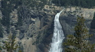Beautiful shot of Nevada Fall at Yosemite Stock Footage