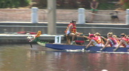 Stock Video Footage of Dragon Boat In The Water